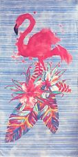 """30""""x 60"""" New Painted Flamingo Beach Towel """"Made in Brazil"""""""