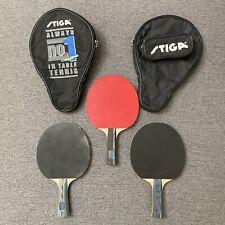 Stiga Table Tennis Paddles Ultra, EuroTech, & Prestige Paddles plus Two Bags