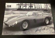 Rare Autographe Photo Scaglietti Ferrari 250 GTO Signed Not Copy