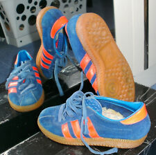 Seltene Adidas Dublin Blau / Rot Stockholm Bern Sneaker Halle Vintage, Gr. 32