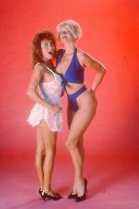 Beautiful 35mm slide image sexy dark hair model lingerie 1980's R3