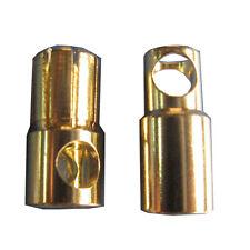 Gold Bullet Connectors 6mm x 4 pairs + Heat Shrink