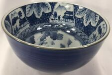"""Chinese Old Blue and White Porcelain Bowl Signed, hand Painted. 5"""" diameter, 3"""""""