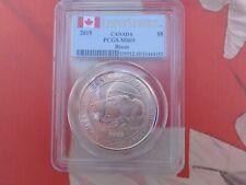 2015 1.25 oz. Canada Bison $8 silver coin PCGS MS69 .9999 ultra fine silver