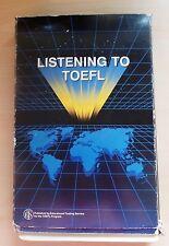 Libro con Kasette: listening to TOEFL, Official publication of the TOEFL Program