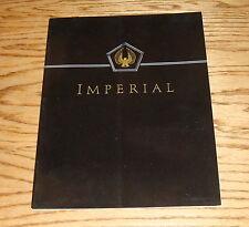 Original 1992 Chrysler Imperial Sales Brochure 92