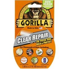"Gorilla Tape Clear Repair Duct Tape, 1.88"" x 9 yd (Pack of 1)"