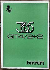 FERRARI 365 GT4 2+2 Owner's Manual Catalogue  75/73