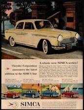 1959 SIMCA Elysee Hardtop Car - Vedette - Ariane - Deluxe - Oceane VINTAGE AD