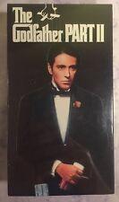 The Godfather Part 2 II VHS 2-Tape Set Al Pacino Robert DeNiro Brand New Sealed