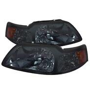1999 2000 2001 2001 2002 2003 2004 Mustang Smoke Amber Crystal Headlights NEW