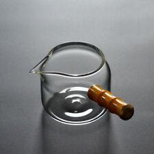 Phoebe Side-handle Verre clair Cha Hai thé Pichet de service tasse juste 240ml