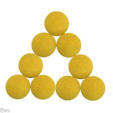 9 balles de baby foot en liége jaune balle homologuée BONZINI