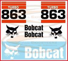 Bobcat 863 Decal Sticker Kit Skid Steer Loader Number Stripes Side Turbo
