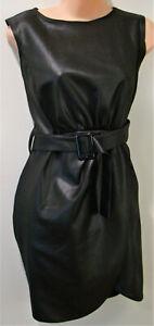 """Boohoo"" Black dress with belt - sleeveless - Size 18"