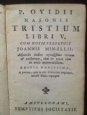Ovidius 1750 Tristium Amsterdam Minelli