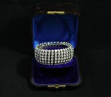 "Vintage Rhinestone Bracelet in Original Box - Marked "" Empire Made """
