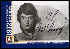 09 ITG 1972 THE YEAR IN HOCKEY AUTO AUTOGRAPH AL MCDONOUGH PITTSBURGH PENGUINS