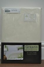 Bailey Caravan Poly/Cotton luxury Percale Fixed Bed  Fitted Sheet Double Ivory