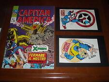 CAPITAN AMERICA 1a Serie no. 4 - ADESIVI - EDICOLA - ORIGINALE CORNO 1973