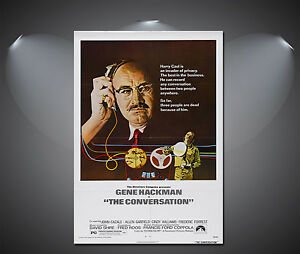 The Conversation Gene Hackman Vintage Movie Poster - A1, A2, A3, A4 available