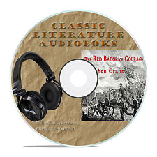THE RED BADGE OF COURAGE, STEPHEN CRANE, CLASSIC AUDIOBOOK LITERATURE MP3 CD-A55