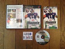 Madden NFL 2002 Sony PS2 Playstation PAL FR