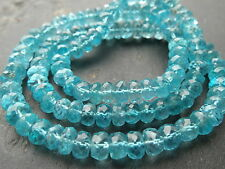 150cts HAND FACETED APATITE beads, 5.9mm - 6.5mm, 17""