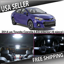 2014 & UP TOYOTA COROLLA White Interior LED Package Kit (6 piece)