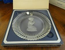 Hummel Goebel 1979 Annual Crystal Glass Plate in Original Box