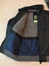 Mens SUPERDRY Fleece Lined Waxed Winter Bomber Harrington Jacket Size XXL Black