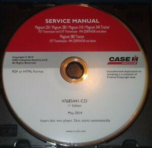 CASE IH MAGNUM 250 280 310 340 380 TRACTOR SERVICE SHOP REPAIR BOOK MANUAL