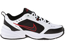 Nike Men's Air Monarch IV Cross Trainer, Black/White-Red Swoosh, Size 10