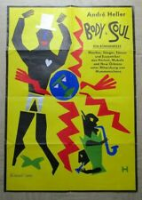 Andre Heller Body & Soul - Original 1980's vintage music poster - 33 x 23 inch