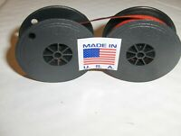 "New Smith Corona Typewriter Ribbon Black and Red Ink Twin Spool 2"" Free Shipping"