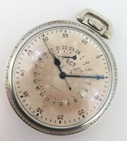 .*WWII Longines G.C.T 24 Hour US Army Air Corps Navigation Pocket Watch A-9 Case