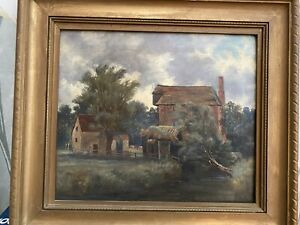 Beautiful Old Oil Painting Framed (j)