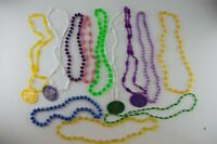 12 Vintage 1978-1979 Krewe of Pontchartrain Mardi Gras Plastic Bead Necklaces a