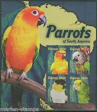GUYANA  2014  PARROTS  SHEET OF FOUR  MINT  NH