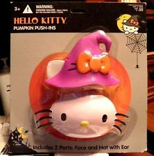 Hello Kitty Halloween Pumpkin Push-Ins Decoration Toy Witch Hat Halloween Craft