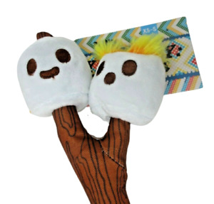 3 in 1 Bark Box DOG TOY Twig Twins Crinkle Squeak Size XS S NEW Plush