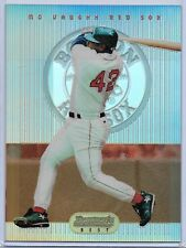 1995 Bowman's Best Baseball Mo Vaughn Jumbo Refractor Box Topper Card # 42