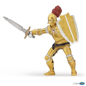 Papo 39778 Golden Knight IN Armor 3 1/8in Knight And Castles