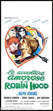 LE AVVENTURE AMOROSE DI ROBIN HOOD LOCANDINA CINEMA FILM 1969 PLAYBILL POSTER
