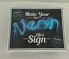 Make Your Own Neon Light Sign (electric blue)