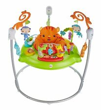 Mattel Fisher-Price Spielspaß Rainforest Jumperoo Baby-Hopser Schaukel Jumper