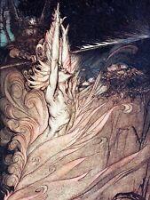 Pintura Rin y las valquirias llamas Grande De Pared Arte Impresión Cartel LF2206