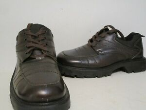 Aldo Mens Leather Dress Casual Oxford Shoes Brown Size 41 ( US size 7.5/ 8 )