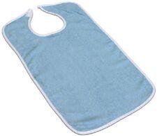 3 NEW PRO MEDICAL ADULT TERRY CLOTH BIB W/ VELCROE CLOSURES BLUE 18''X30''