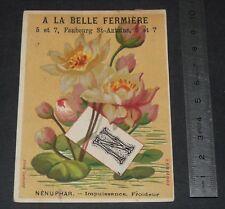 CHROMO 1895-1900 A LA BELLE FERMIERE PARIS N NENUPHAR IMPUISSANCE FROIDEUR